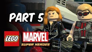 LEGO Marvel Super Heroes Gameplay Walkthrough - Part 5 Hawkeye & Black Widow (Let's Play Commentary)