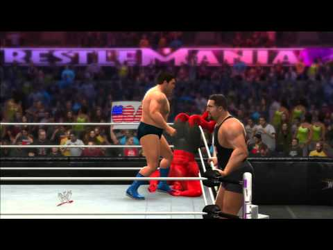 WWE 2K14 Hulk & Red Hulk Vs André The Giant & The Big Show Rétro Gameplay By powerbombx