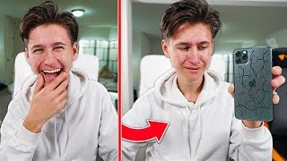 If You LAUGH, You Destroy iPhone - Challenge (Do NOT Laugh)