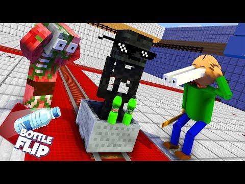 Monster School BALDI S BASICS & BOTTLE FLIP CHALLENGE Minecraft Animation
