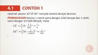 4.1 Contoh 1 Mengubah Derajat-Menit-Detik Menjadi Bentuk Desimal