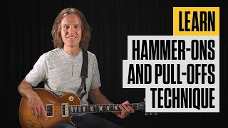 Easy Hammer-on and Pull-off Electric Guitar Lesson | Guitar Tricks