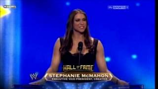 Trish Stratus WWE Hall of Fame Induction 2013