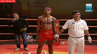សួន ចាន់នី វៃមួយទឹក ថៃ ដេកបាត់, soun channy vs thai, Ganzberg Uber Fighter, MYTV Boxing 20 04 2018