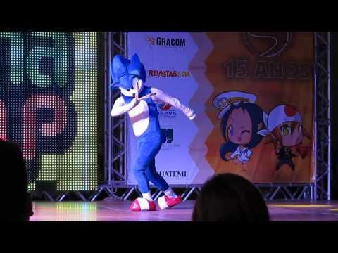 SANA 2015 - Desfile Cosplay - Sonic dos Games para o Sana