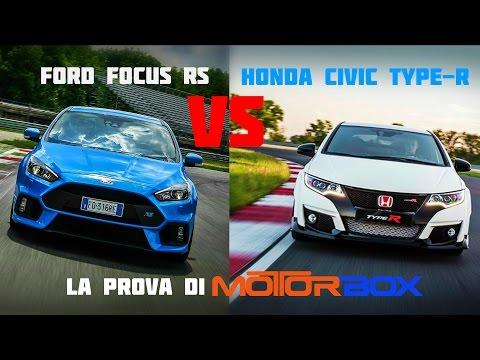 Honda Civic Type R vs Ford Focus RS a Franciacorta: la prova di MotorBox