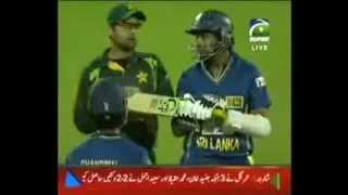 Ahmed Shehzad and Dilshan Fight Pak vs SL 3rd ODI 2013