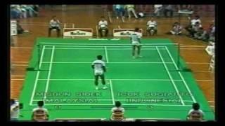 Separuh Akhir Piala Thomas 1988: Misbun Sidek vs Icuk Sugiarto