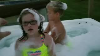 Bubble bath hot tub part with the crazy coop kids!