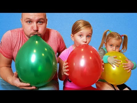 Xxx Mp4 ALISA Plays With Balloons Fun Playtime With Children 3gp Sex