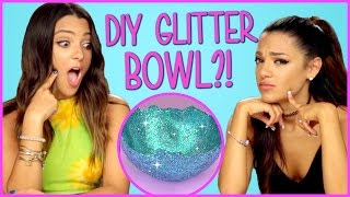 DIY Glitter Bowls?! | Niki and Gabi DIY or DI-Don