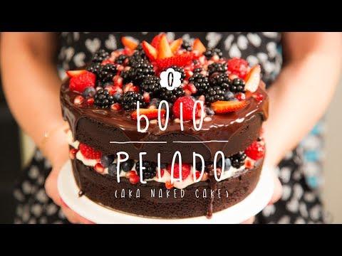 Bolo Pelado de Chocolate ou Naked Cake A Doce Cozinha de Dani Noce 02