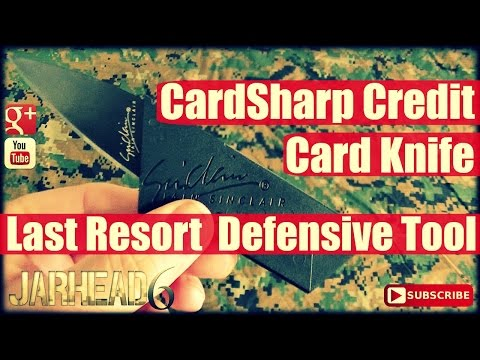 CardSharp Credit Card Knife: Last Resort Defensive Tool by Iain Sinclair!