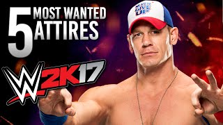 WWE 2K17 John Cena - 5 Attires for 2K17 (Most Wanted)