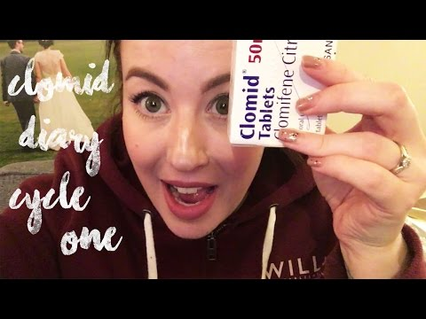 CLOMID CYCLE 1 VIDEO DIARY & LIVE PREGNANCY TEST ONCE IN A LULLABY
