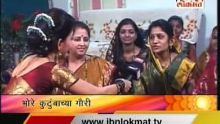 IBN Lokmat Ganpati special 'Gauri aalya ghara' with Madhavi Kulkarni