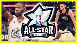 NBA ALL STAR GAME 2018 - NBA 2K18 vs NBA LIVE 18 | Deutsch / German