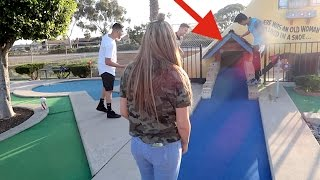 CRAZY MINI-GOLF CHALLENGE! Loser has to...
