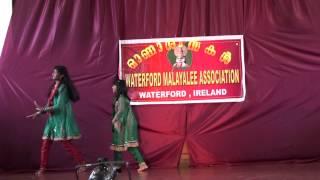Waterford Malayalee Association Onam Celebration 2012 (performance by jessica & sinega)