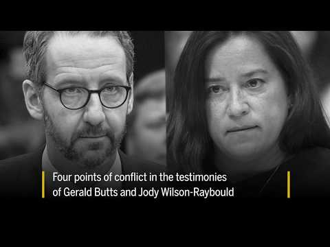 Four points of conflict in the testimonies of Gerald Butts and Jody Wilson Raybould