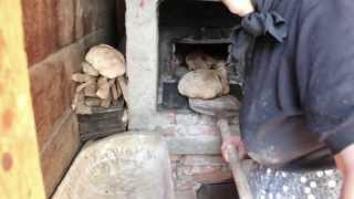 Transylvanian traditional bread-making