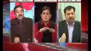 PML -- N Vs MQM Live fight -- Mustafa Kamal   Zaeem Qadri