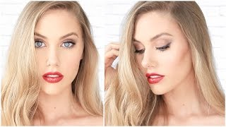 Glamorous Gold Eyes & Red Lips Makeup Tutorial  ♥ stephaniemaii ♥