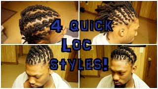 4 LOCSTYLES for SHORT locs (UNISEX)
