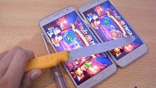 Samsung Galaxy J7 vs J5 - Knife Test HD