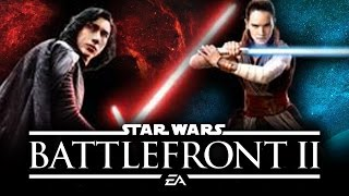 Star Wars Battlefront 2 - NEW LOOK AT REY AND KYLO REN from Star Wars Episode 8 Last Jedi!