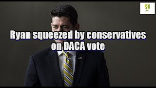 Ryan squeezed by conservatives on DACA vote