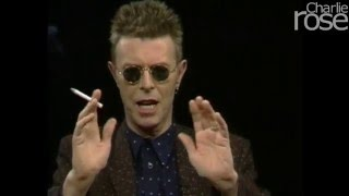 """David Bowie: to be an artist is to be """"dysfunctional"""" (Mar. 31, 1998)   Charlie Rose"""