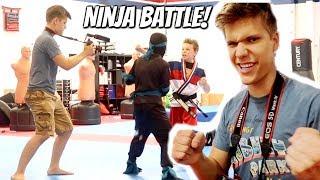 We Battled Ninja Kidz TV! SuperHero Kids SHK Family