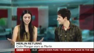 Merlin - Colin Morgan and Katie McGrath on BBC Breakfast