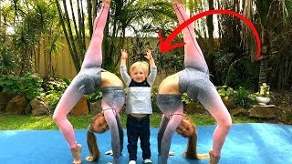 Teaching our nephew Acro/Gymnastics!