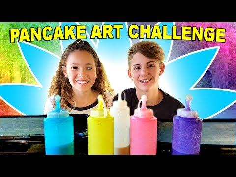 PANCAKE ART CHALLENGE!!! (MattyBRaps vs Sierra Haschak)