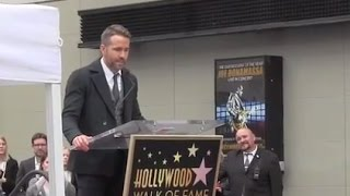 Ryan Reynolds Talks About Blake Lively, Family, His Dad @ his Walk of Fame Ceremony