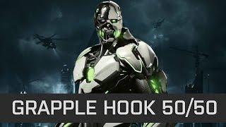Injustice 2 - Cyborg Corner Grappling Hook 50/50 - Tech Video