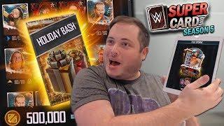 HUGE 250K Credits Holiday Bash PACK OPENING!!   WWE SuperCard Season 5