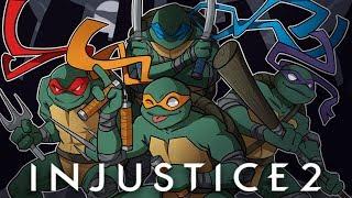 GO NINJA GO NINJA GO! | Injustice 2 (vs H2O Delirious) Teenage Mutant Ninja Turtles!