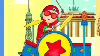 Nursery Rhymes for Kids | Caillou all around the world | WATCH ONLINE | Songs for kids