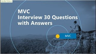 MVC  Interview Questions with Answers