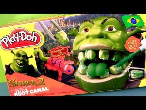Play Doh Shrek Raiz Podre Dente de Ogro Dreamworks Brinquedos Para Crianças Portugues