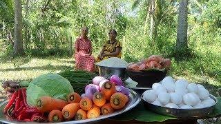 Nasi Goreng ❤ Cooking Nasi Goreng in my Village by Grandma & Mom