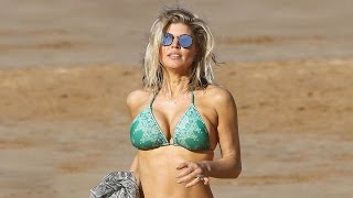 Fergie Flaunts Fit Figure in Teeny Bikini on Hawaiian Beach