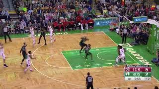 Al Horford does his rebound flinching bit