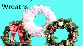 DIY 3 Easy Christmas Wreaths