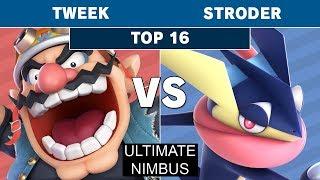 Ultimate Nimbus - TSM   Tweek (Wolf, Wario) vs Stroder (Greninja) Top 16 - Smash Ultimate