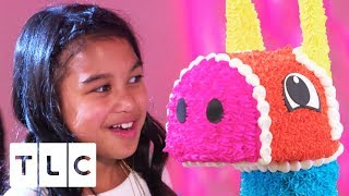 EPIC Piñata Cake for DJ Themed Party   Cake Boss