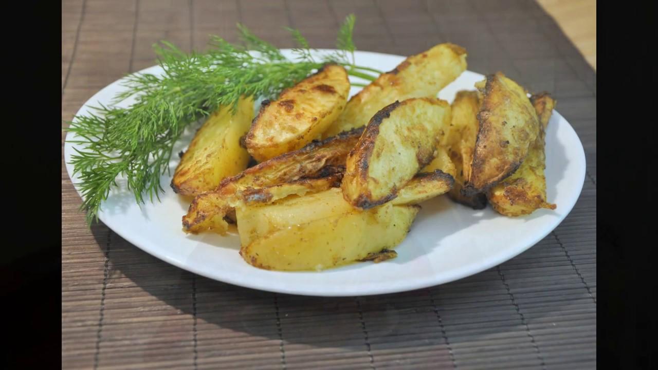 Картошка по деревенски с курицей в духовке с фото
